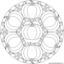 impressive printable halloween mandala coloring pages with fall