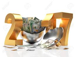 new year dollar bill golden 2017 new year and silver broken christmas of