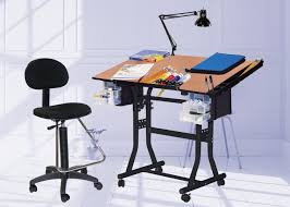 Martin Drafting Table The Creation Station Table Combo Package With Drafting High Chair