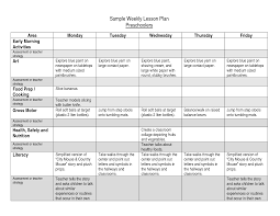 5 best images of sample yearly lesson plan sheet sample