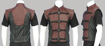leather vest two tone leather vest u2014 pendragon costumes
