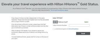 free hilton gold status from american express platinum one mile