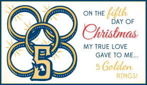 5 golden rings ecard free christmas cards online