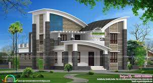 style home designs modern style curved roof villa homes design plans