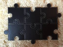 Unique Drink Coasters Drink Coasters Set Of 6 Puzzle Leather Design Suitable For