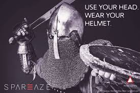 wear a helmet while riding be safe road safety messages by