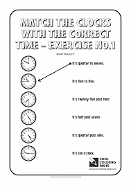 match the clocks with the correct time no 1 cool coloring pages
