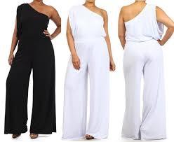 white jumpsuits plus size all white plus size jumpsuits vsw fashion