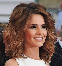 asian shoulder length curly wavy hairstyle