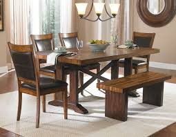 Dining Room Bench Sets Bench A Vintage Cherry Dining Room Set In A Room With