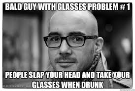 Black Guy With Glasses Meme - guy with glasses problem 1
