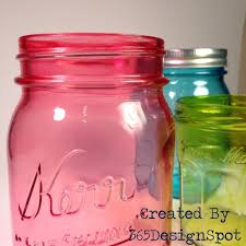 diy mason jars tinted with alcohol inks and martha stewart glass