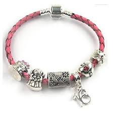 braided leather charm bracelet images Teenager 39 s daughter 39 happy birthday chick 39 age 13 16 18 pink png