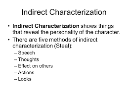 direct and indirect characterization worksheet the best and most