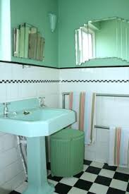 1930s bathroom ideas green vitrolite mirror bathroom remodel deco