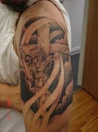 half sleeve jesus on cross tattoo design tattoos book 65 000