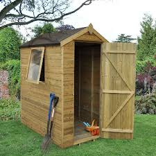 Shiplap Sheds 6 X 4 Forest Shiplap Apex Garden Shed With Single Door 6 X 4 Elbec