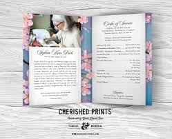 programs for funeral services cherry blossoms celebration of program for funerals and