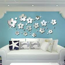 new acrylic mirror wall stickers 3d 14 flowers decals home new acrylic mirror wall stickers 3d 14 flowers decals home background decor comes with adhesive diy full wall mural decals full wall stickers from