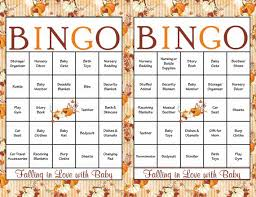 baby shower gift bingo 30 baby shower bingo cards falling in with baby shower