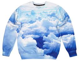 cloud sweater sweater printed sweater printed sweater sweatshirt clouds