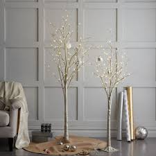 led trees glitter west elm