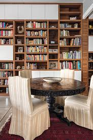 Ceiling Bookshelves floor to ceiling bookshelves make a great feature wall design by
