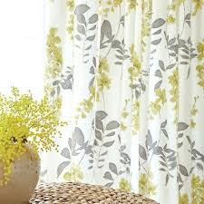 Grey And Yellow Shower Curtains Gray And Yellow Curtains Grey Yellow Floral Curtains
