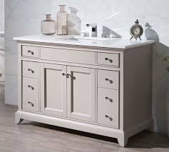 anny 49 inch transitional grey finish single bathroom vanity