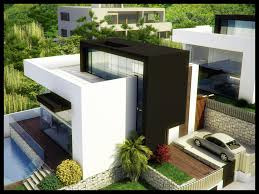 modern white and brown modern villa midgard that can add the