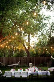 Outdoor Party Ideas by Backyards Outstanding Courtyard Festival Lighting 18 Fall