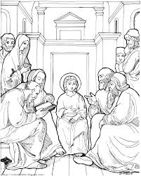 christ in the temple as a child color the bible