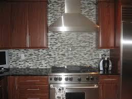 black glass tiles for kitchen backsplashes glossy metal chimney mosaic glass tile backsplash ideas black