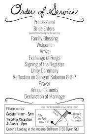 Simple Wedding Ceremony Program Comic Book Wedding Programs U2013 Danny Fast