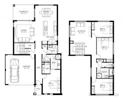 single level tiny house floor plan incredible double storey 4 bedroom house designs perth