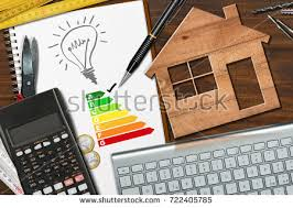 energy of light calculator energy efficiency rating graph on desk stock photo royalty free
