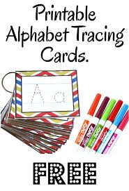 creative homeschool alphabet tracing cards free printable