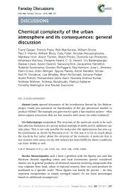 chemical complexity of the urban atmosphere and its consequences