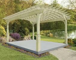 treated pine arched garden free standing pergolas pergolas by