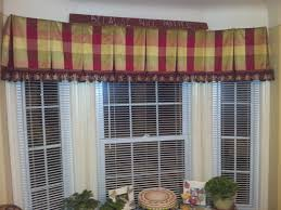 silk box pleated bay window valance lined and inner lined for