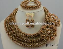 beads necklace sets images Mikemaycall wholesale price fancy beaded necklace set nigerian jpg