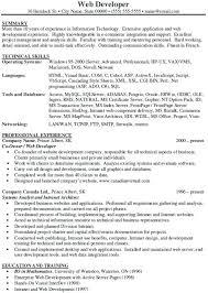 sample resume for experienced web designer samples lofty