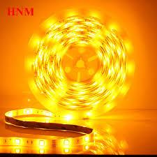 yellow led strip lights yellow led strip light 5050 smd 30leds m 5m roll tape led light