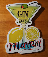 martini bar sign plaques u0026 signs home décor home u0026 garden