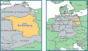 map germany brandenburg state germany map of brandenburg de where is