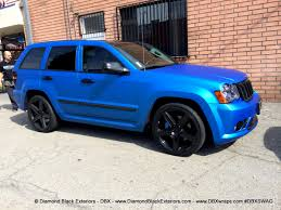 jeep grey blue jeep grand cherokee srt8 wrapped in matte blue aluminum by dbx