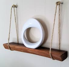 solid hardwood shelf hanging shelf natural wood shelf walnut