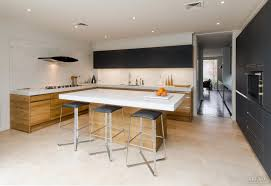 2 Tone Kitchen Solid Timber For The Cabinetry In This Bold Two Tone Kitchen All