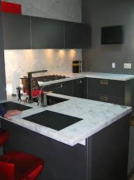 stylish kitchen ideas appliances a minimalist deep grey kitchen design with a marble