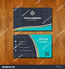 simple business card template design company stock vector